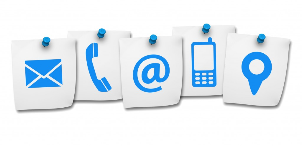 Website Contact Us Icons On Post It